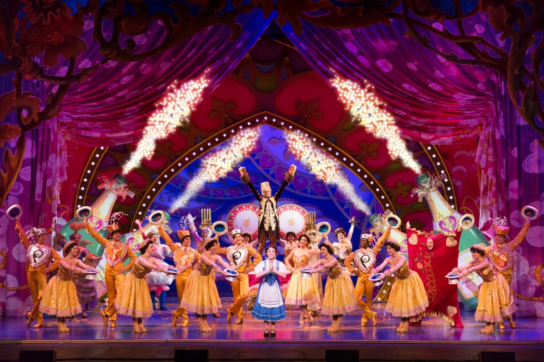 Be Our Guest - Jillian Butterfield and the cast of Disney's Beauty and the Beast. Photo by Matthew Murphy